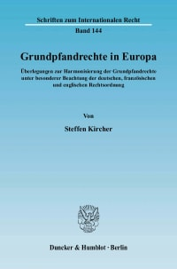 Cover Grundpfandrechte in Europa