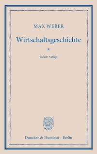 Cover Wirtschaftsgeschichte