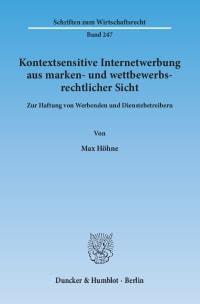 Cover Kontextsensitive Internetwerbung aus marken- und wettbewerbsrechtlicher Sicht