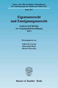 Cover Eigentumsrecht und Enteignungsunrecht