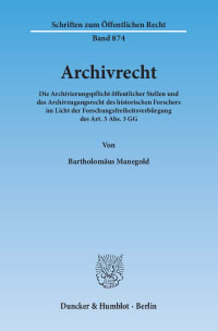 Cover Archivrecht