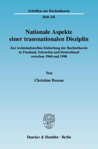 Cover Nationale Aspekte einer transnationalen Disziplin