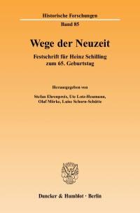 Cover Wege der Neuzeit