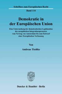 Cover Demokratie in der Europäischen Union