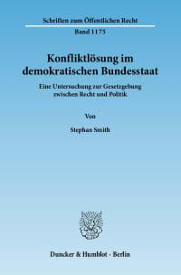 Cover Konfliktlösung im demokratischen Bundesstaat