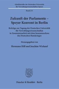 Cover Zukunft der Parlamente – Speyer Konvent in Berlin