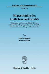 Cover Hypertrophie des ärztlichen Sozialrechts