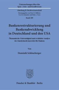 Cover Bankenrestrukturierung und Bankenabwicklung in Deutschland und den USA