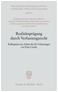 Cover Realitätsprägung durch Verfassungsrecht