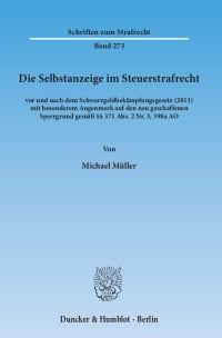 Cover Die Selbstanzeige im Steuerstrafrecht