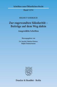 Cover Zur zugewandten Säkularität – Beiträge auf dem Weg dahin