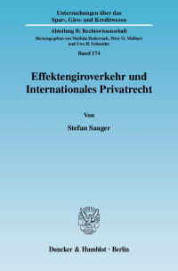 Cover Effektengiroverkehr und Internationales Privatrecht