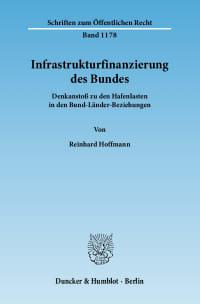 Cover Infrastrukturfinanzierung des Bundes