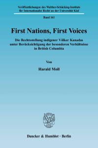 Cover First Nations, First Voices