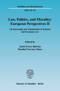 Cover Law, Politics, and Morality: European Perspectives II