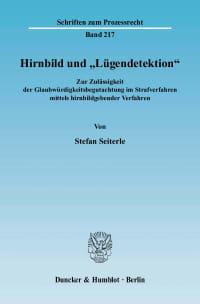 """Cover Hirnbild und """"Lügendetektion"""""""