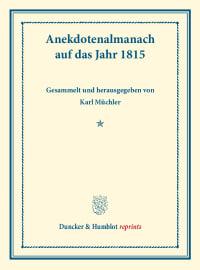 Cover Anekdotenalmanach auf das Jahr 1815