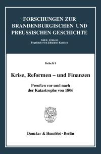 Cover Krise, Reformen - und Finanzen
