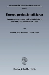 Cover Europa professionalisieren