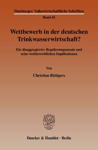Cover Wettbewerb in der deutschen Trinkwasserwirtschaft?