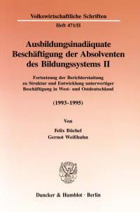 Cover Ausbildungsinadäquate Beschäftigung der Absolventen des Bildungssystems II