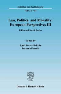 Cover Law, Politics, and Morality: European Perspectives III