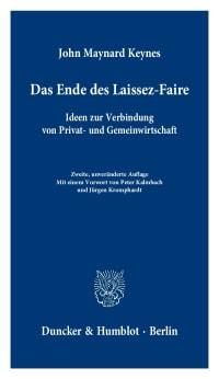 Cover Das Ende des Laissez-Faire