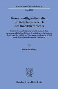 Cover Kommanditgesellschaften im Regelungsbereich des Investmentrechts