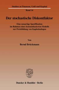 Cover Der stochastische Diskontfaktor