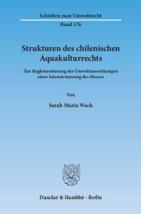 Cover Strukturen des chilenischen Aquakulturrechts