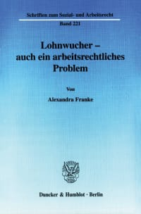 Cover Lohnwucher - auch ein arbeitsrechtliches Problem