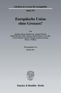 Cover Europäische Union ohne Grenzen?