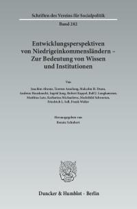 Cover Entwicklungsperspektiven von Niedrigeinkommensländern - Zur Bedeutung von Wissen und Institutionen