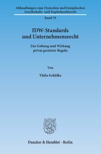 Cover IDW-Standards und Unternehmensrecht
