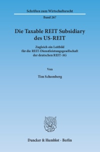 Cover Die Taxable REIT Subsidiary des US-REIT