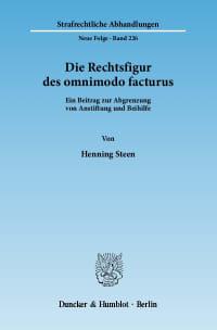 Cover Die Rechtsfigur des omnimodo facturus
