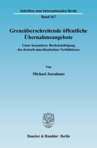 Cover Grenzüberschreitende öffentliche Übernahmeangebote