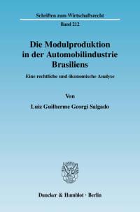 Cover Die Modulproduktion in der Automobilindustrie Brasiliens