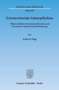 Cover Extraterritoriale Schutzpflichten