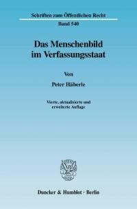 Cover Das Menschenbild im Verfassungsstaat