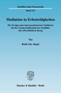 Cover Mediation in Erbstreitigkeiten