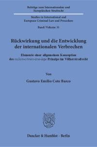 Cover Rückwirkung und die Entwicklung der internationalen Verbrechen