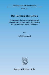 Cover Die Parlamentarischen