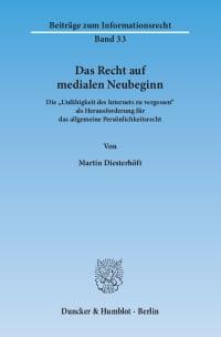 Cover Das Recht auf medialen Neubeginn
