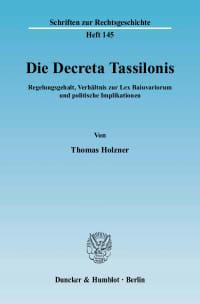 Cover Die Decreta Tassilonis