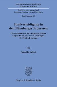 Cover Strafverteidigung in den Nürnberger Prozessen