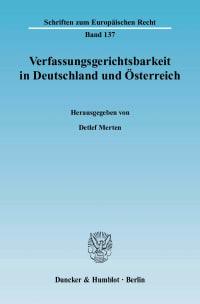 Cover Verfassungsgerichtsbarkeit in Deutschland und Österreich