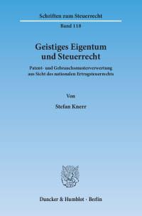 Cover Geistiges Eigentum und Steuerrecht