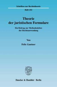Cover Theorie der juristischen Formulare