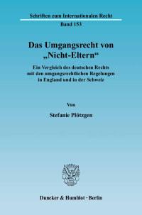 Cover Das Umgangsrecht von »Nicht-Eltern«